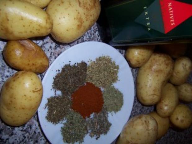 Kartoffelspalten - Potatoe-Wedges mit Pizzawürz - Rezept - Bild Nr. 2