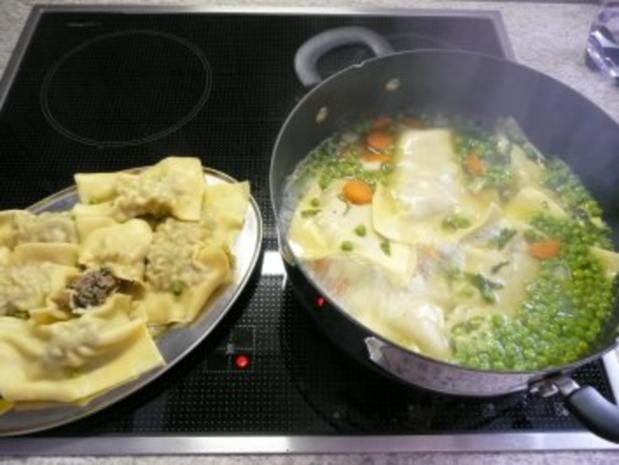 suppen schnelle maultaschen in gemüsebrühe rezept