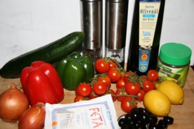 Vorspeise: Griechischer Sommer-Salat - Rezept - Bild Nr. 2