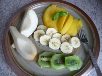 Dessert :  Gemischter Obst-Teller - Rezept