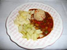 Reis & Risotto - ... an Kohlrabi mit Gemüsemix - Rezept