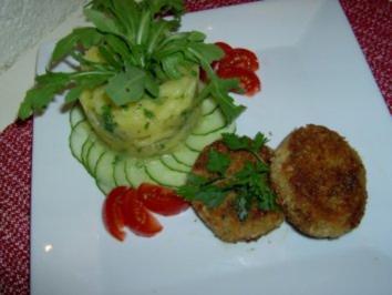 Rezept: Frikadellen vom Rotauge mit fränkischem Kartoffelsalat ala E.