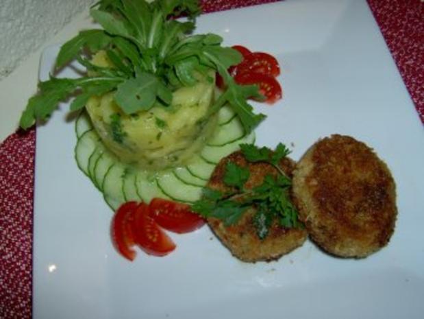 Frikadellen vom Rotauge mit fränkischem Kartoffelsalat ala E. - Rezept