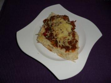 Hackfleisch-Fladenbrot - Rezept