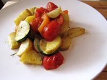 Kartoffeln und Rosmaringemüse aus dem Ofen - Rezept