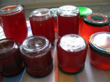 Johannisbeergelee mit gemahlenem Ingwer - Rezept