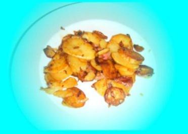 Bratkartoffeln mit Speck und Zwiebeln - Rezept