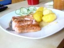 Rotfleischiges Forellenfilet mit Kartoffeln - Rezept