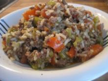 Reispfanne mit Rinderhack - Rezept