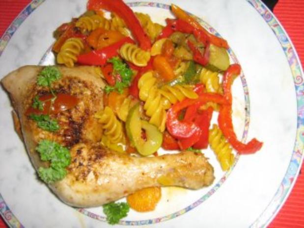 Hähnchenschenkelpfanne mit mediterenem Gemüse - Rezept - Bild Nr. 7