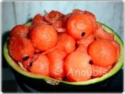 Dessert - Marinierte Wassermelone - Rezept