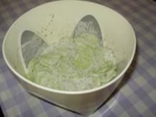 Gurkensalat mit Dill - Sahne - Dressing - Rezept