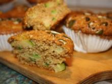 Muffins: Vollkornmuffins mit Zucchini und Kürbiskernen - Rezept