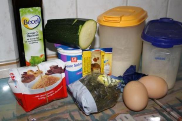 Muffins: Vollkornmuffins mit Zucchini und Kürbiskernen - Rezept - Bild Nr. 2