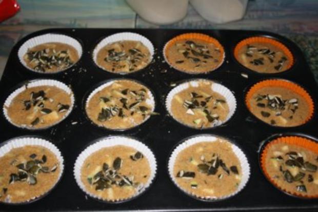 Muffins: Vollkornmuffins mit Zucchini und Kürbiskernen - Rezept - Bild Nr. 4
