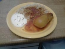 Gefüllte Paprika und gefüllte Kartoffel - Rezept