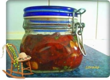 Eingemachtes:  Eingelegt  getrocknete Tomaten - Rezept