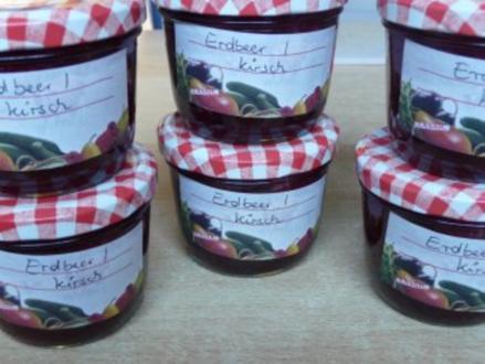 Erdbeer - Kirschmarmelade - Rezept
