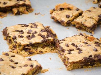 Rezept: Warmes Schoko-Cookie-Dessert mit Eis