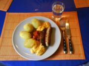 Fleisch: Bratwürstchen mit Chakalaka-Dip - Rezept