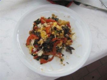 Wok Reis mit Gemüse - Krabben - Ei - Ch. Pilzen - Rezept