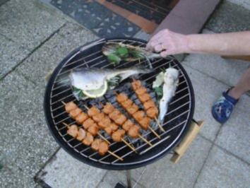 Dorsch und grüne Heringe auf Grill  (Fotos) - Rezept