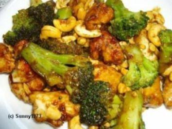 Hähnchen mit Brokkoli und Cashewkernen - Rezept