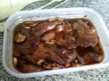 Honig-Rotweinmarinade für gegrillte Schweinesteaks - Rezept