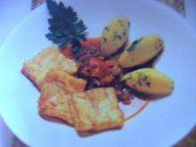 Polardorschfilet mit Letschogemüse und Kartoffeln - Rezept