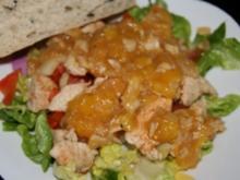 Vorspeise: Salat mit Pute und Mangodressing - Rezept
