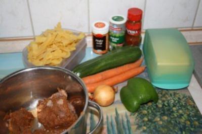 Nudel-Gemüse-Pfanne - Rezept