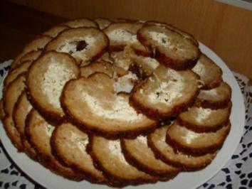 Snack...Kalter Hackbraten mit Frischkäse - Rezept