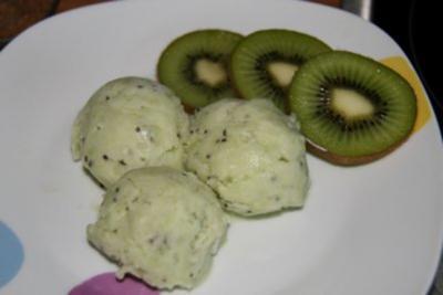 Dessert: Kiwi-Eis - Rezept