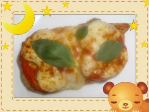 Hähnchenbrust mit Mozzarella überbacken - Rezept - Bild Nr. 3