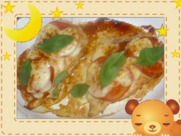 Hähnchenbrust mit Mozzarella überbacken - Rezept - Bild Nr. 2