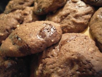 Plätzchen: Schoko Cookies - Rezept