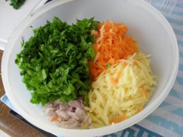 Rösti mit Kartoffeln, Karotten, Schalotten und Mangold  OHNE KNOBI - Rezept - Bild Nr. 2
