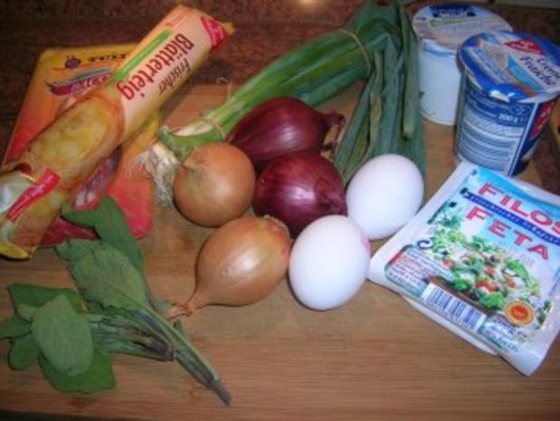 Zwiebel-Quiche mit Schafskäse - noch ein Mitbringsel aus dem Urlaub - total lecker - Rezept - Bild Nr. 2