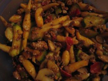 Schupfnudelpfanne mit Gemüse - Rezept