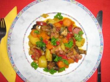 Mediterane Bauernpfanne - Rezept