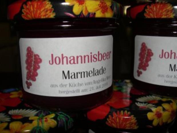 M+G:  JOHANNISBEER - MARMELADE....  ohne Frucht- Körnchen - Rezept