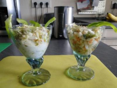 Spitzkohlsalat mit Möhren und Paprika         (Foto) - Rezept