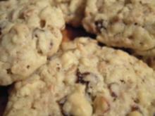 Plätzchen: Haferflocken Nuss Rosinen Cookies - Rezept