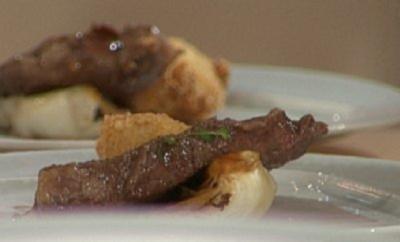 Presa vom Iberico-Schwein mit Pommery-Senf-Sauce und Gemüsekroketten a la Baudrexel - Rezept
