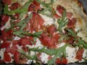 Tomatenkuchen mit Ruccola (Fettreduziert) - Rezept