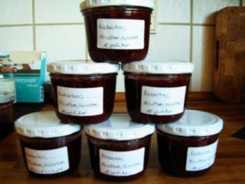 Rhabarber-Himbeer Marmelade mit Eierlikör - Rezept