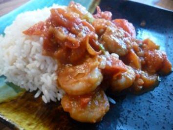 Curry-Tomaten-Garnelen - Rezept