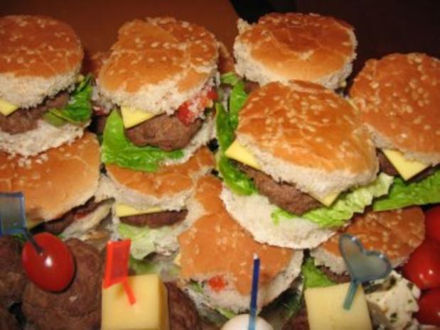 Mini- Party- Cheeseburger - Rezept