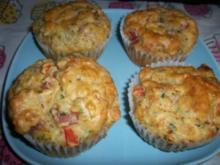 Paprika-Schinken Muffins mit Cup - Rezept