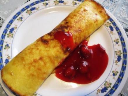 Pfannkuchen mit Sauerkirsch-Grütze ... - Rezept